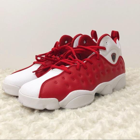 Team Jordan II red and white 6.5Y
